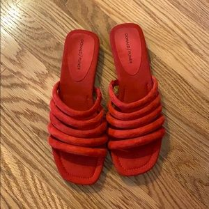 Donald Pliner Red Suede Sandals